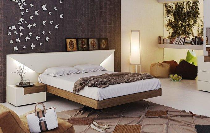 Двухспальная кровать Elena с подсветкой 160х200