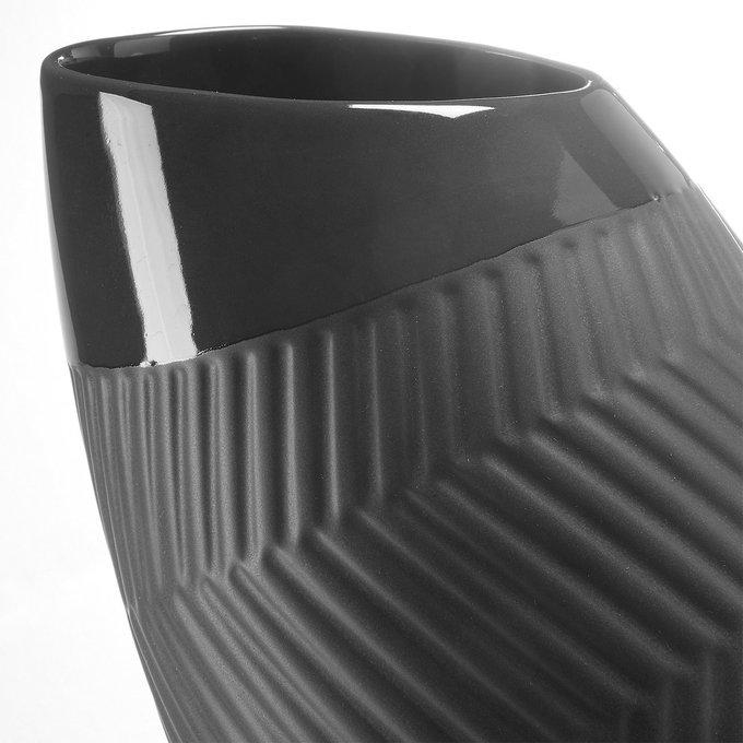 Керамическая Ваза Julia Grup MUNDO черного цвета