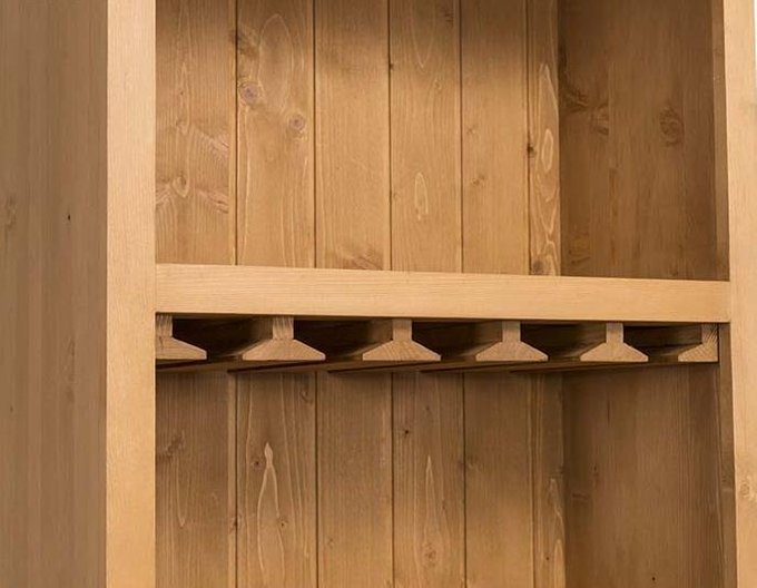 Винный шкаф Брюгге коричневого цвета