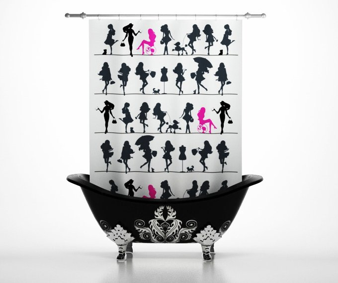 Шторка для ванной: Дамы
