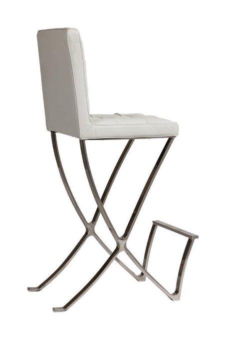 Стул Barcelona Dining Chair Белая Натуральная Кожа