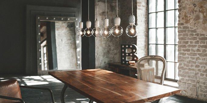 Подвесной светильник Beton Rib white