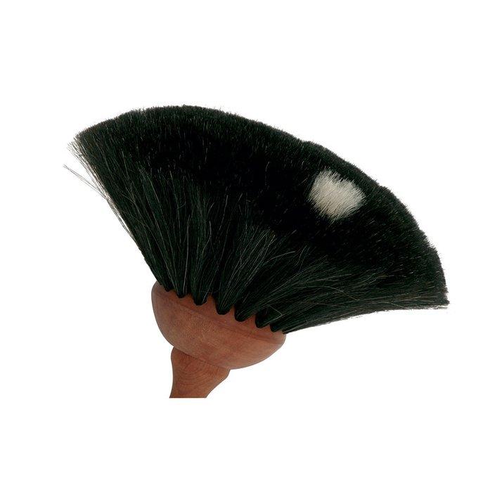 Щётка для уборки пыли темная из козьего волоса