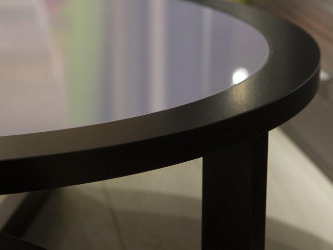 """Журнальный столик """"Vintage"""" со столешницей из цветного стекла"""