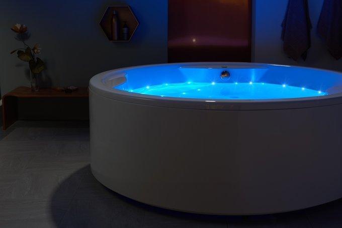 Акриловая Ванна Allegra-Relax с Аэромассажем и Хромотерапией