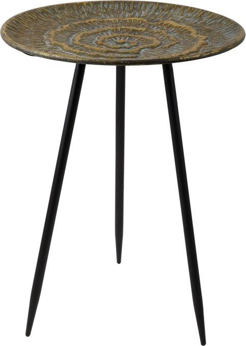 Кофейный столик золотого цвета