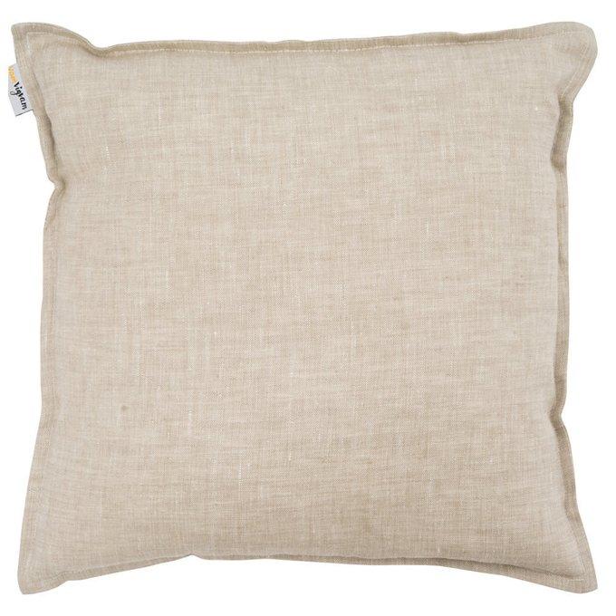 Чехол для подушки из льна бежевого цвета