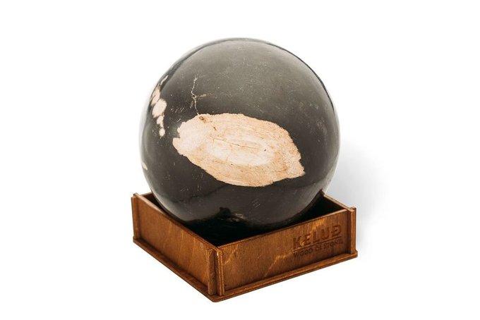 Декоративный шар из окаменелого дерева 383684