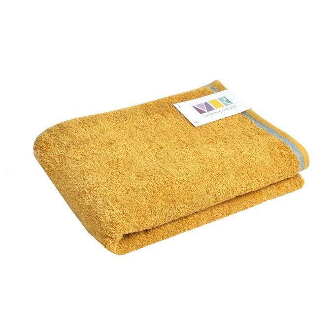 Полотенце из хлопка горчичного цвета 50х100