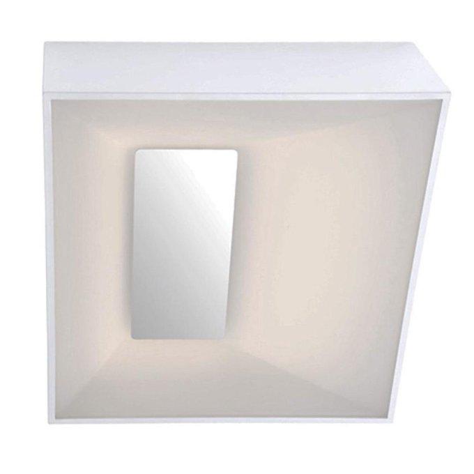 Настенно-потолочный светодиодный светильник Тетрис белого цвета