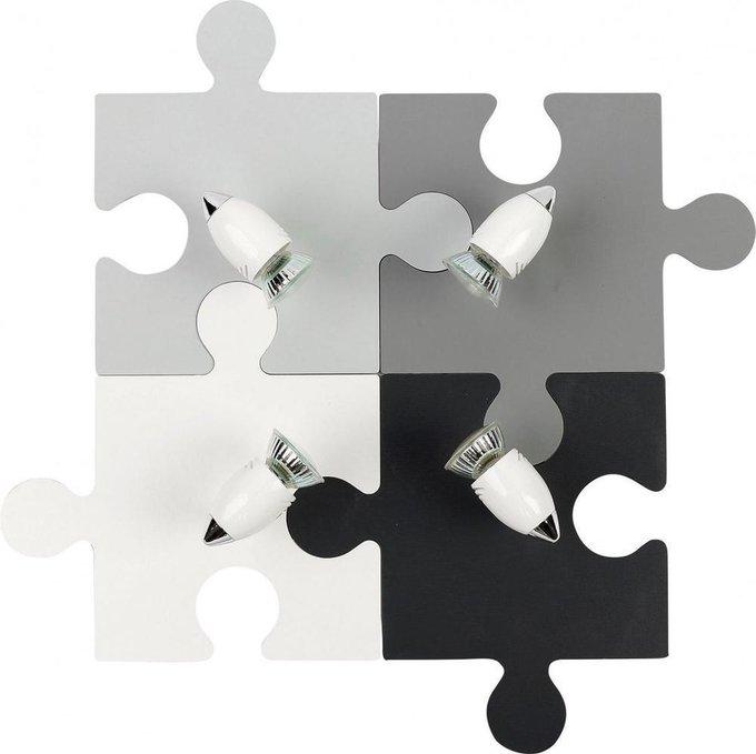Спот Puzzle серого цвета