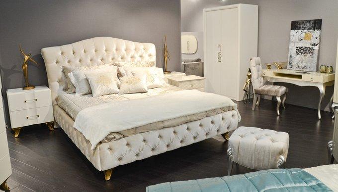 Кровать Rimini светло-бежевого цвета 180х200 см