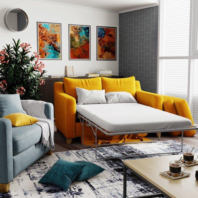 Диван-кровать Mendini MTR (204) бордового цвета