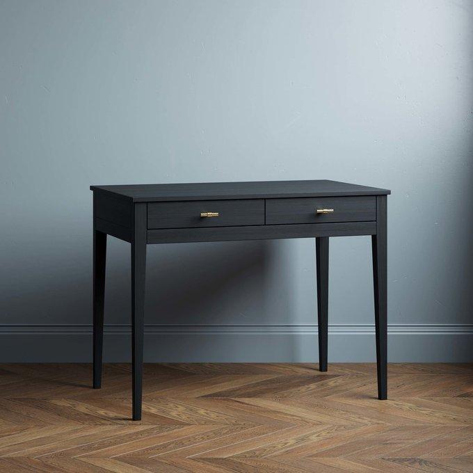 Письменный стол Ustas 2 100х60 с двумя ящиками черного цвета