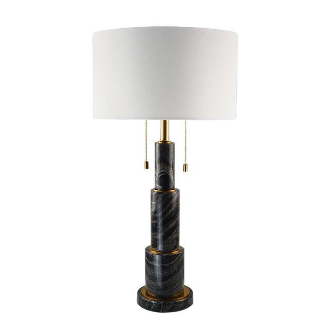 Настольная лампа с мраморным основанием