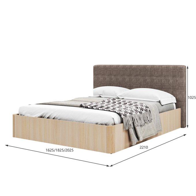 Кровать Магна 140х200 бежевого цвета и подъемным механизмом