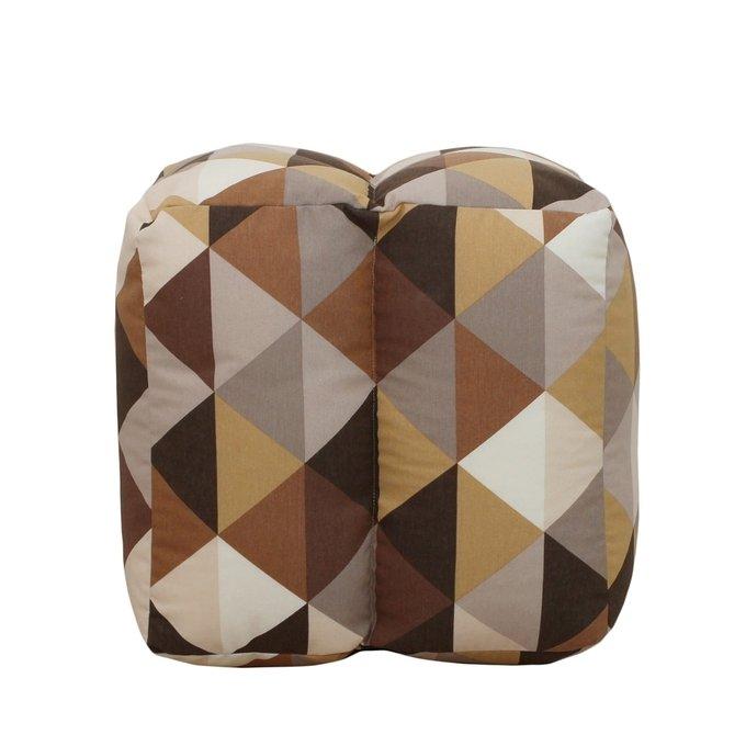 Пуф-аэрокуб коричневого цвета