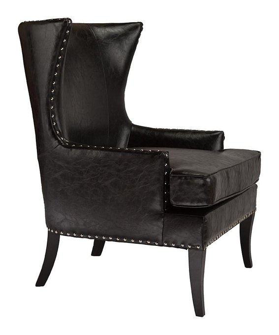 Кресло Gramercy Club Chair Черная Экокожа