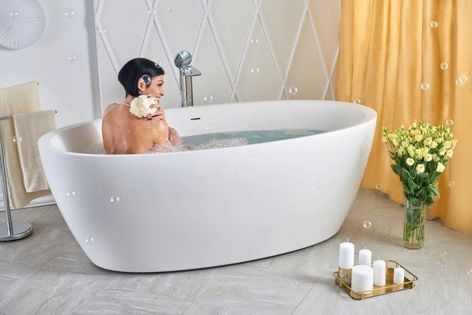 Каменная Ванна Sensuality белая