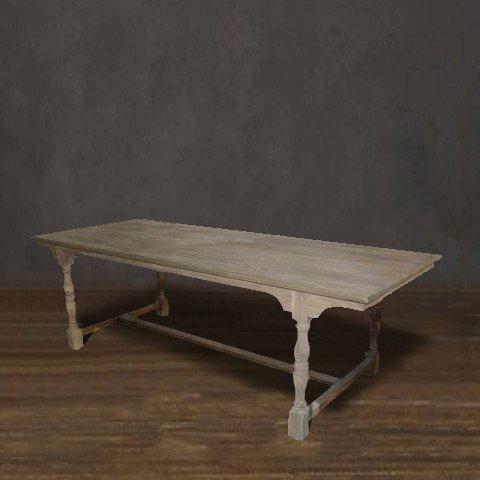Прямоугольный обеденный стол из натурального массива дерева