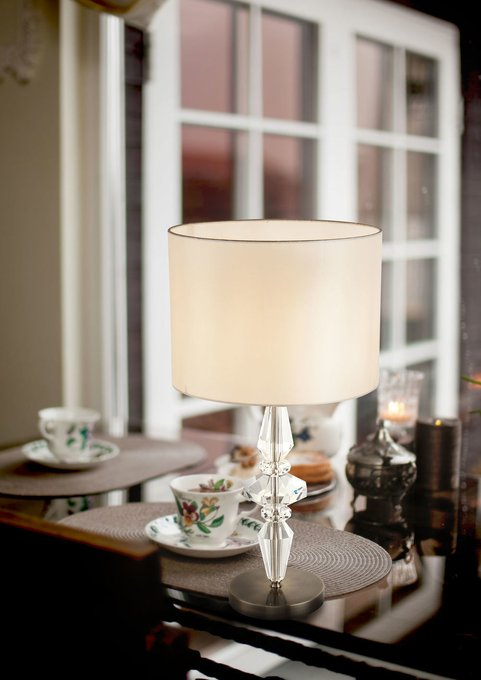 Настольная лампа Monte Carlo кремового цвета
