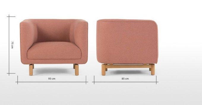 Кресло Tribeca розового цвета