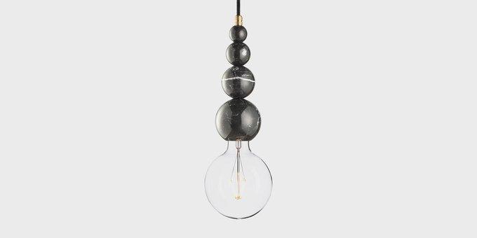 Подвесной светильник из мрамора Marmor Slipp nero