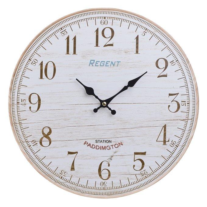 Настенный часы из дерева молочного цвета
