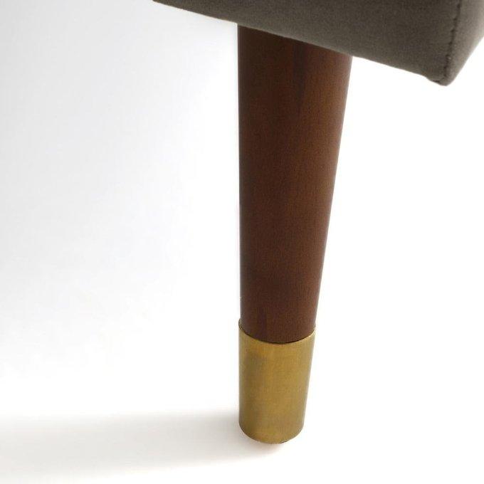 Пуф Wilde Y из велюра и полиэстера серо-коричневого цвета