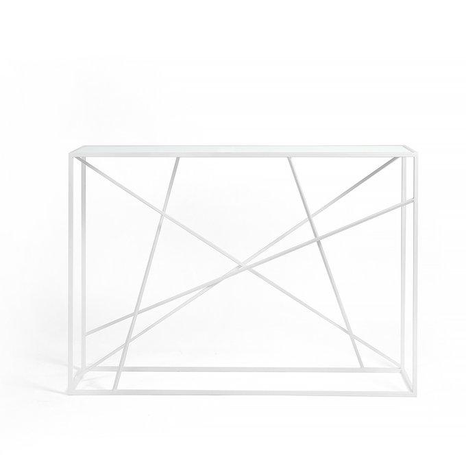 Консоль Wilson line white матовое стекло