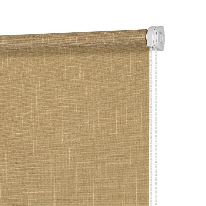 Штора рулонная Шантунг темно-янтарного цвета 160x175