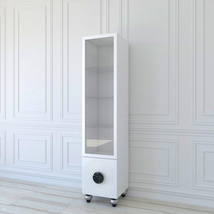 Витрина Bobbio White белого цвета