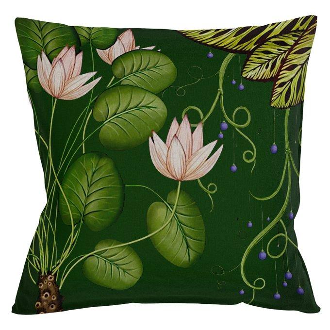 Декоративная подушка Тропический лес / Грин версия 4