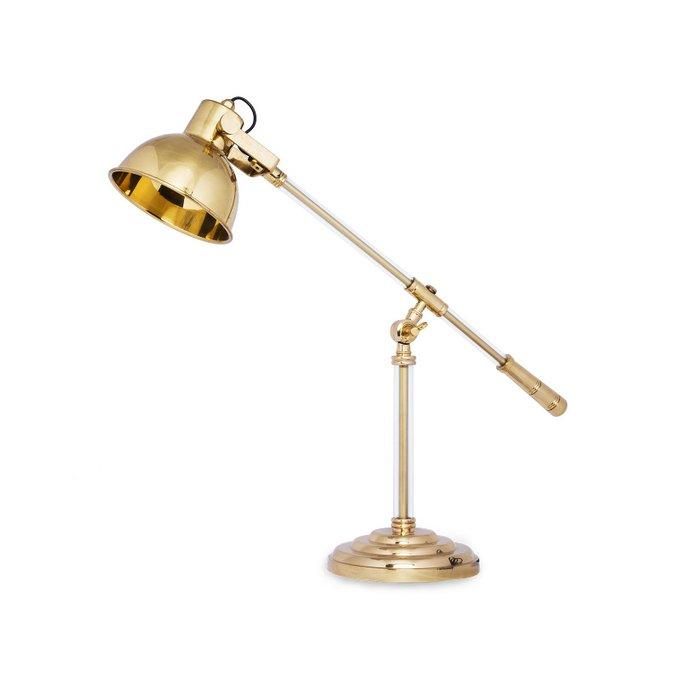 Рабочая настольная лампа Splice золотого цвета