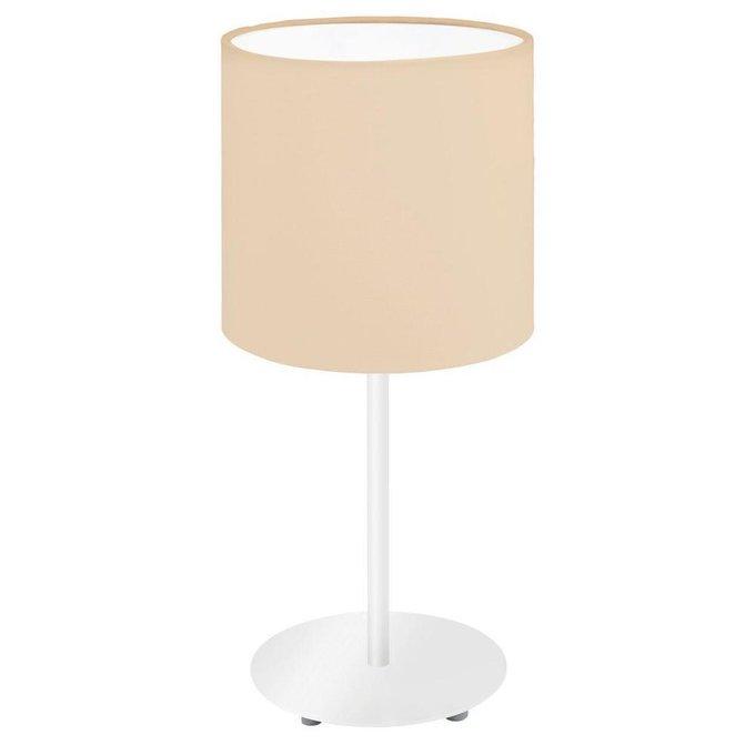 Настольная лампа Pasteri-P с бежевым абажуром