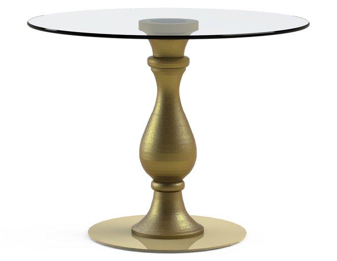"""Обеденный стол """"ADVENTUS Gold"""" с круглой столешницей из закаленного стекла"""