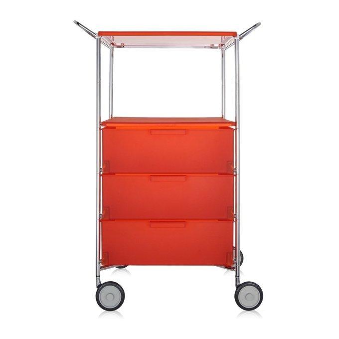 Комод Mobil оранжевого цвета на колесиках