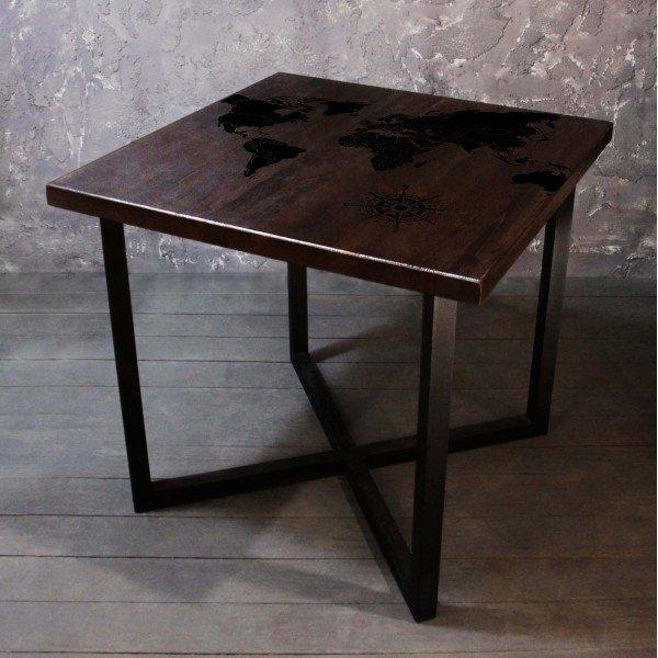 Обеденный стол Карта со столешницей из массива сосны