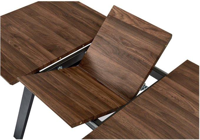 Обеденный раскладной стол цвета ореха