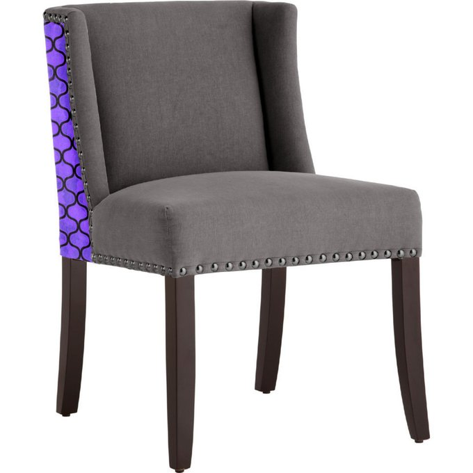 Стул с мягкой обивкой Violet серый