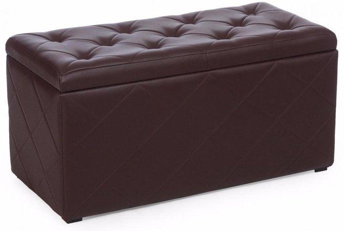 Пуф Ромби Браун темно-коричневого цвета