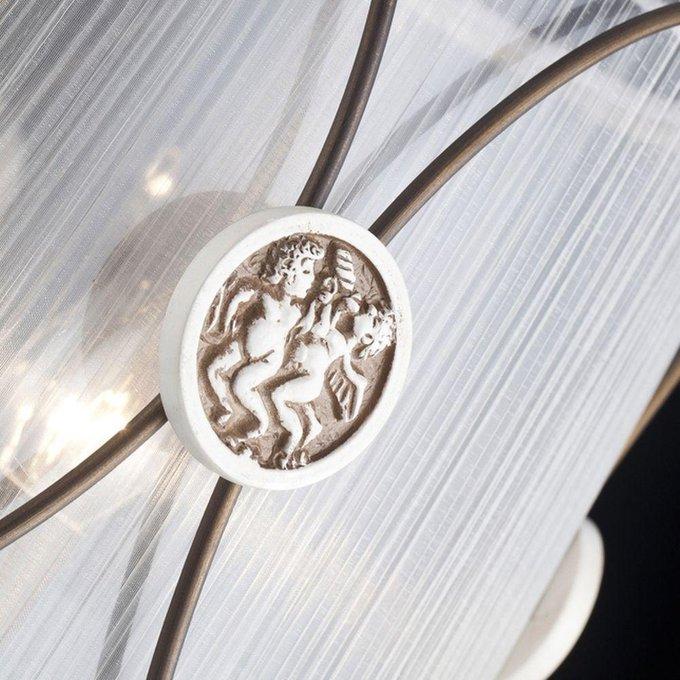 Подвесная люстра MAYTONI Letizia с белым абажуром