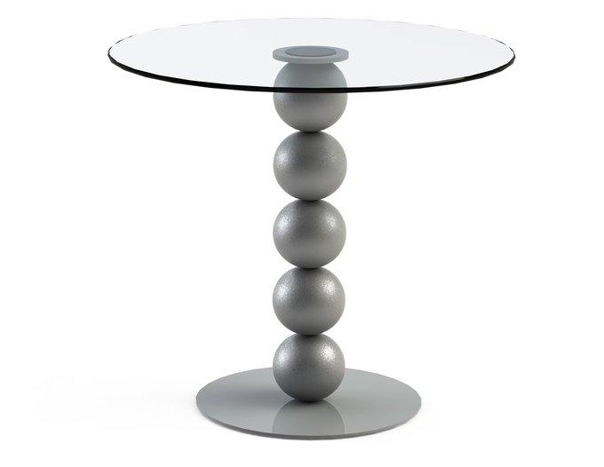 """Обеденный стол """"BLINTER Silver"""" с круглой столешницей из закаленного стекла"""