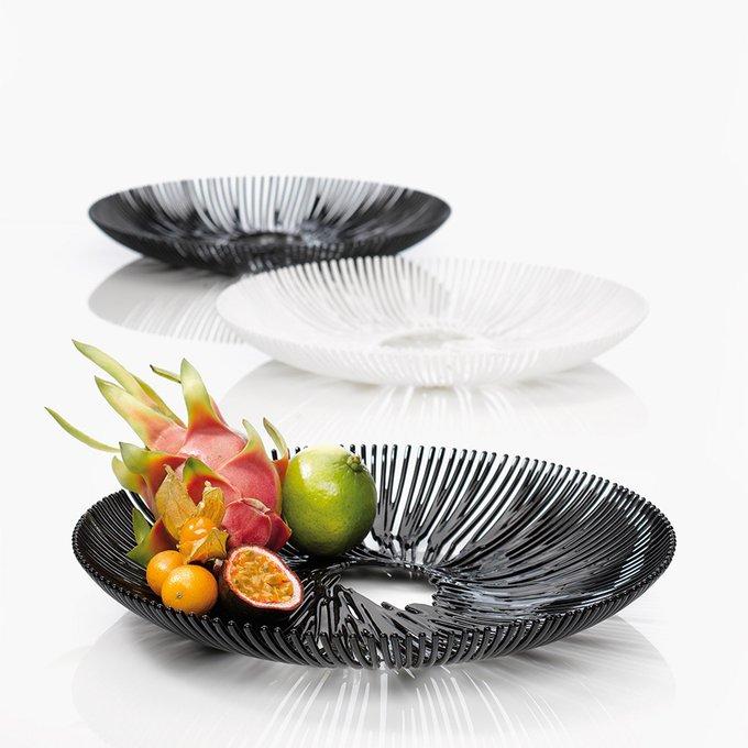 Блюдо для фруктов Anemone чёрного цвета