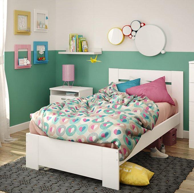 Кровать South Shore Reevo белого цвета 140х200