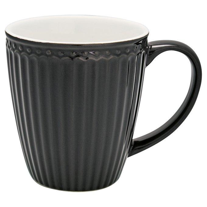 Кружка Alice dark grey из фарфора