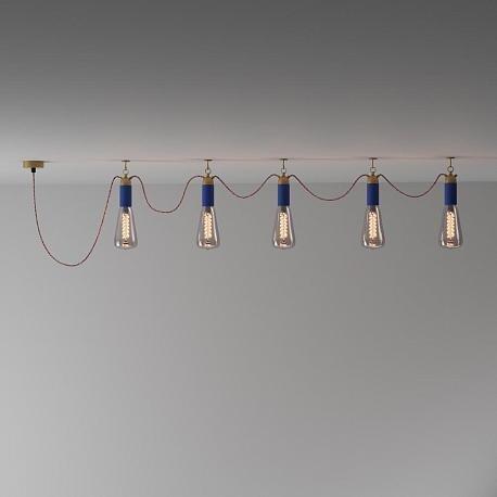 Потолочная люстра Фьюжн из металла бронзового цвета