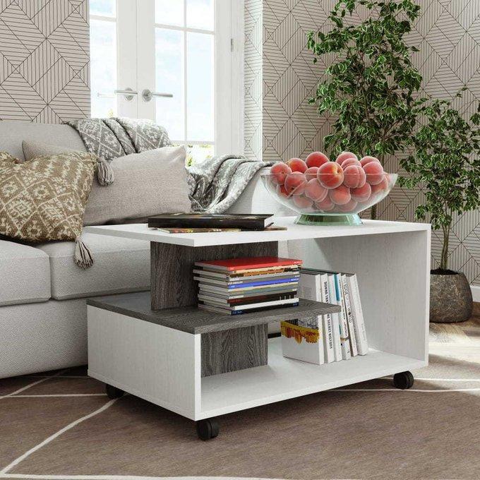 Журнальный столик Селеста белого цвета