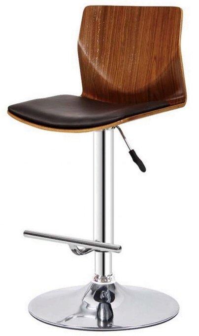 Барный стул Айрон с сидением из экокожи и шпона гивеи