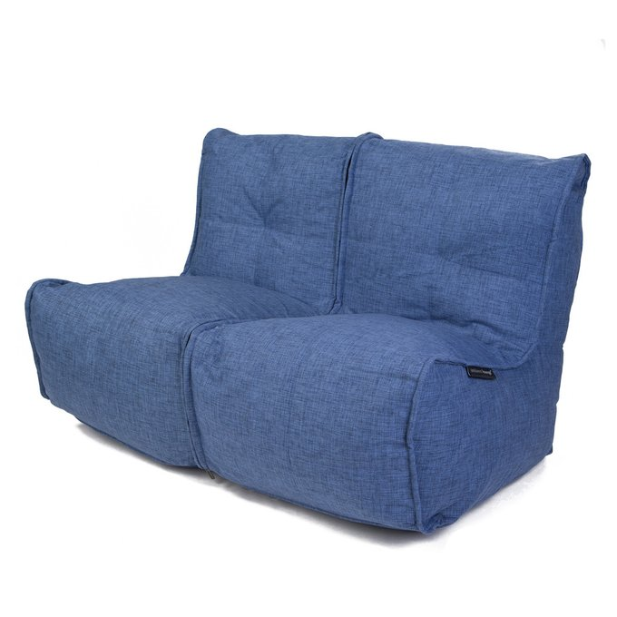 Бескаркасный диван Ambient Lounge Twin Couch - Blue Jazz (синий цвет)